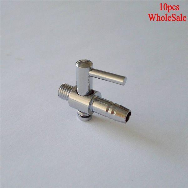 best selling Pumps & Accessories 10PCS Stainless Steel Aquarium Tank Pump Air Flow Tube Pipe Line Control Valve Air Pump Switch Accessories