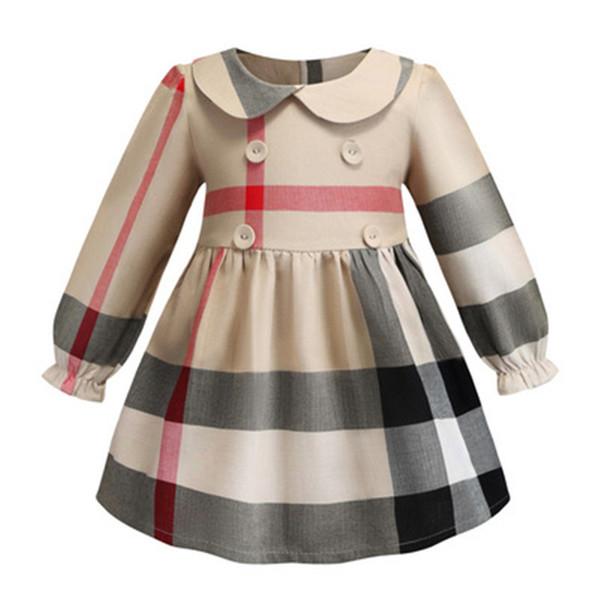 Vestido da menina do bebê roupas de grife vestido de verão meninas vestido sem mangas de algodão do bebê crianças grande xadrez arco dress multi cores