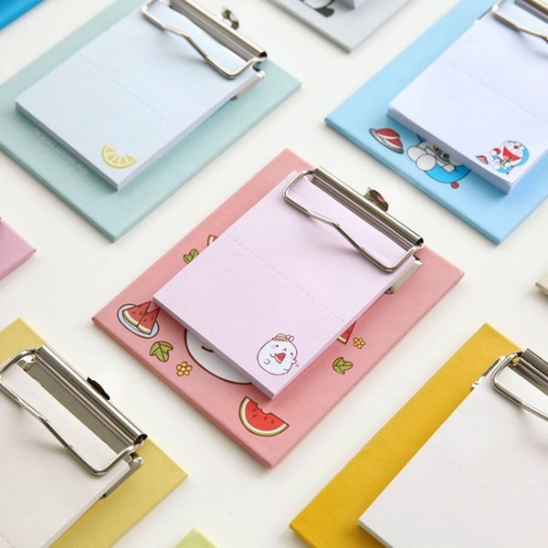 Creative board clip post-it notes, cute note book, cartoon can be pasted and torn N times