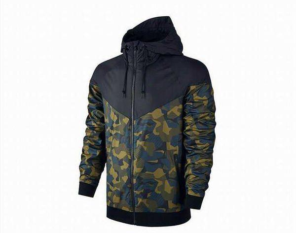 Hommes Vestes À Capuche Manteau Automne À Capuche Camouflage Coupe-Vent À Manches Longues Marque Designer Hoodies Zipper Mens Vêtements