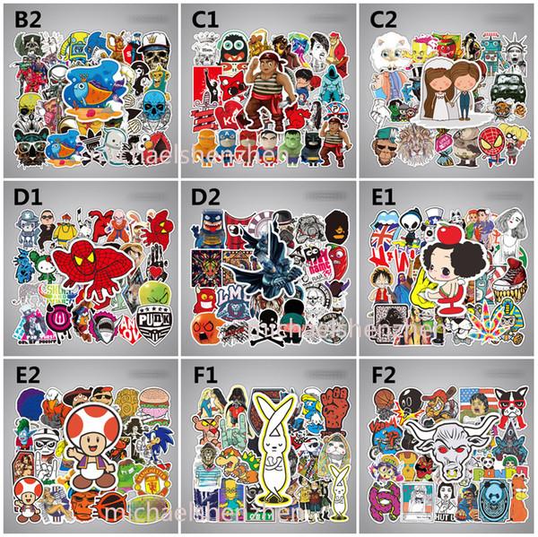 2019 50 Style/Bag Avenger Dragon Ball Graffiti Sticker Thanos Mario Venom  Personality Luggage DIY PVC Wall Stickers Toys B001 From Michaelshenzhen,