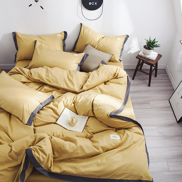 S1905013 Duvet Cover Set Bedclothes Home Textile Most Popular Cool Summer Quilt Bedroom Decoration Pure bed sets King Queen