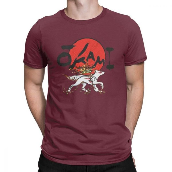 mens designer clothes brand polo Okami Tops Novelty T Shirts for Men Short Sleeved Tops Summer Style Tees Purified Cotton O Neck T-Shirt