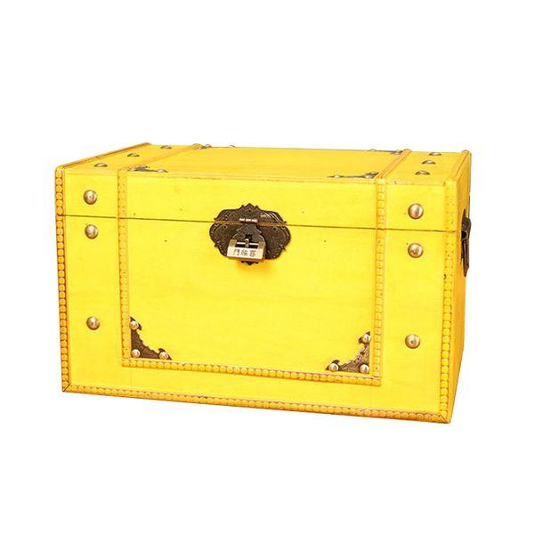 Vintage Piccolo tesoro Legno, gioielli Lock Box di stoccaggio caso regalo di alta qualità Antique dell'organizzatore del supporto