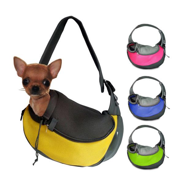 Nefes Dog Ön Kedi Yavru Köpek Pet Backpack için Seyahat Pet Taşıyıcı Sling Ön Taşıyıcı Mesh Bez Omuz Çantası Çanta Taşıma