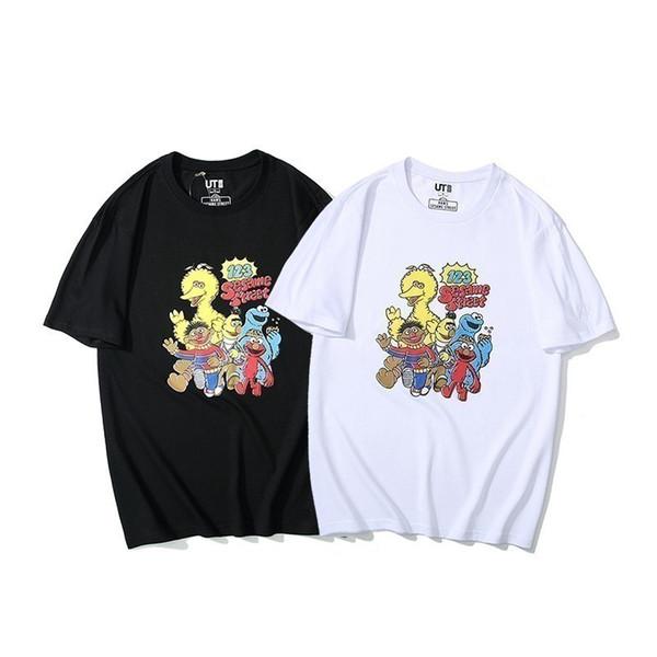 2019 yeni high-end moda çift kısa kollu yaka T-shirt POLO gömlek 751942600501280