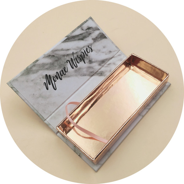 false best mink eyelashes packaging box custom