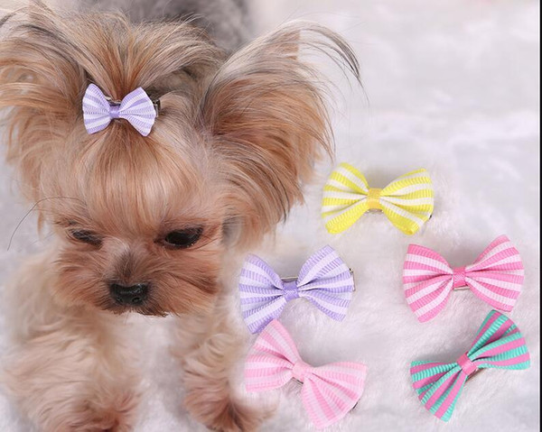 Handmade Designer Dog Hair Bows Cat Puppy Grooming Bows for Hair Accessories Wholesale Cheap Price ZHAO