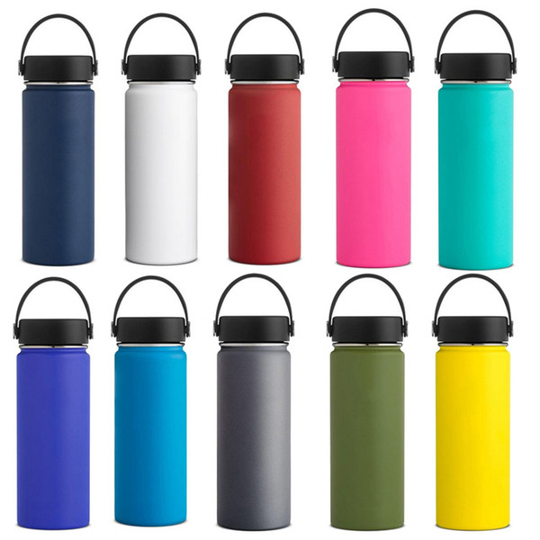 best selling 18oz 32oz 40oz Vacuum Insulated Water Bottles Stainless Steel Double Wall Sports Travel Big Capacity Drinking Bottle with Flex Cap