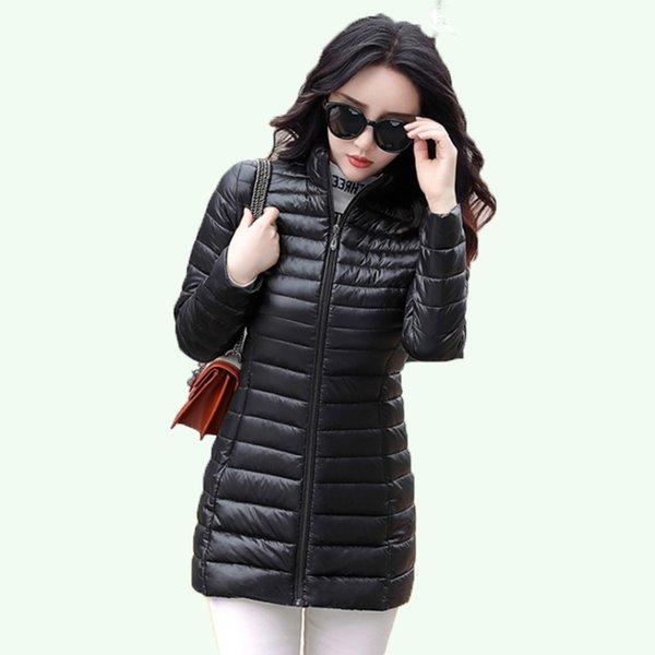 Moda nero / signore di colore rosso Donne lungo Sezione cappotti di inverno Giacche nuova collezione inverno caldo Wedded Giacche Outwear