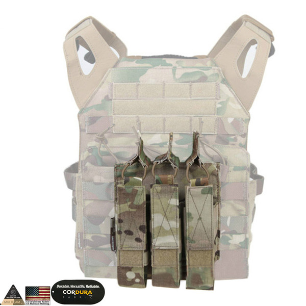 Modular Triple Pouch Airsoft Hunting MP7 Magazine Pouch Wargame Tactical Accessories Molle Mag Pouch Multicam