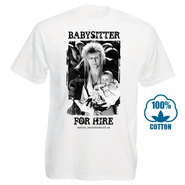 Mesdames Rétro David Bowie Labyrinthe Jareth Babysitter T-shirt Roi des gobelins Casual Cool Fierté T-shirt unisexe hommes Nouveau