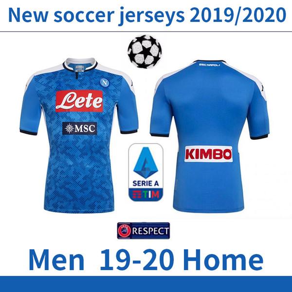 19 20 Maglia da calcio Napoli Home 2019 2020 maglia da calcio maillot de camiseta de futbol HAMSIK L.INSIGNE PLAYER