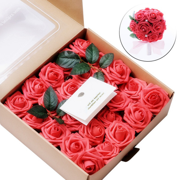 2019 Artificial Flowers Blush Fake Roses For Diy Wedding Bouquets Centerpieces Bridal Shower Party Home Decorations From Hibooth 31 18 Dhgate Com