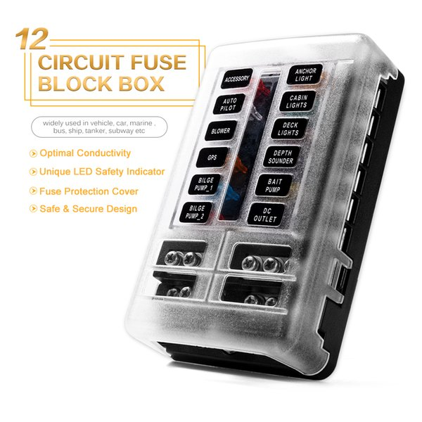 blade fuse box 2019 new 12 way blade fuse box holder 12v 24v for car boat marine  12 way blade fuse box holder 12v 24v