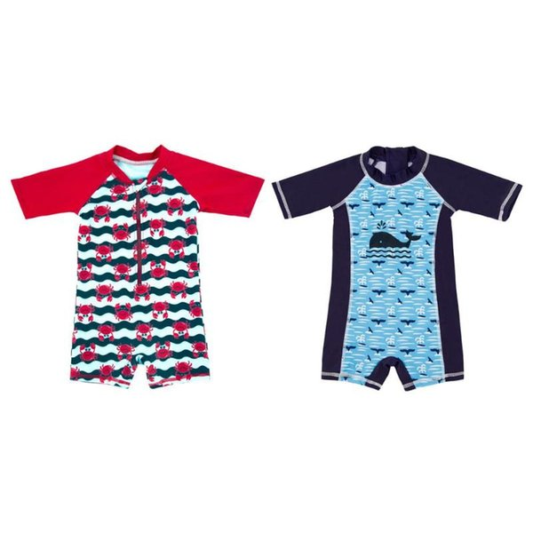 One-piece Swimsuit Baby Boys Cartoon Print Beach Quick-Dry Swimming Jumpsuits Baby Infant Body Suit Children Swimming Clothing