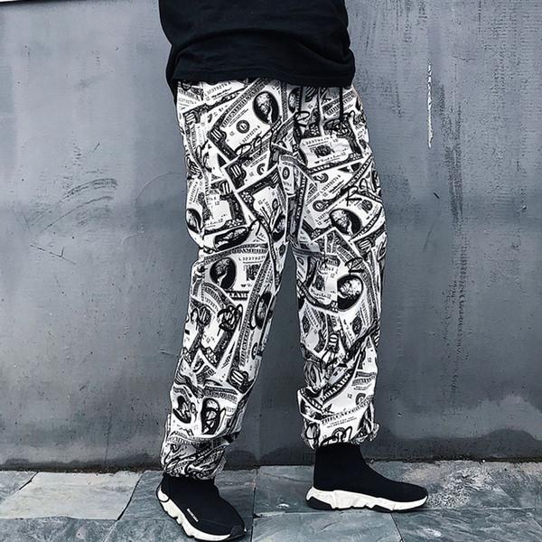 Spring Pants Men Hip Hop Trousers Male Fashion Full Length Pants 2018 US Size S-XL