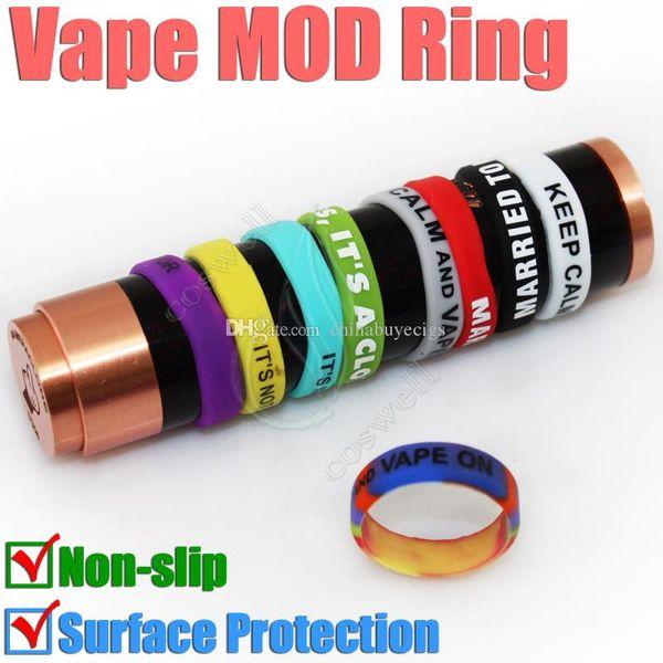 MOD proteger anel de borracha de Silicone para vape 18650 22mm mods mecânicos antiderrapante decorativo proteção resistência e cigarro RDA anéis
