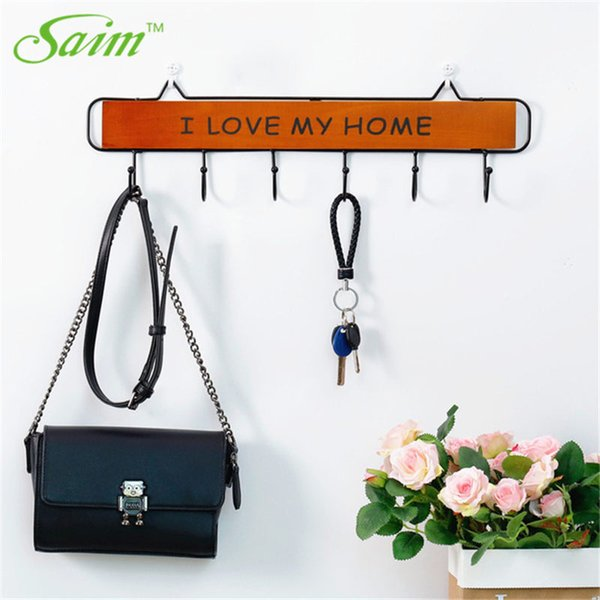 Saim Decorative Hook Door Wooden Hooks for Hanging Coat Porch Wall Key Holder Rack Home Decor Wall Hanging Rack Kitchen Hanger