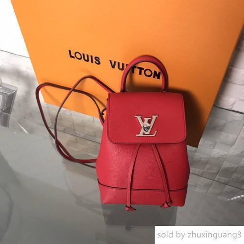 Mini Sırt Çantası M54573 Kırmızı Sırt çantaları Moda Okside Deri İş Çantalar Totes Messenger Çanta gösterir