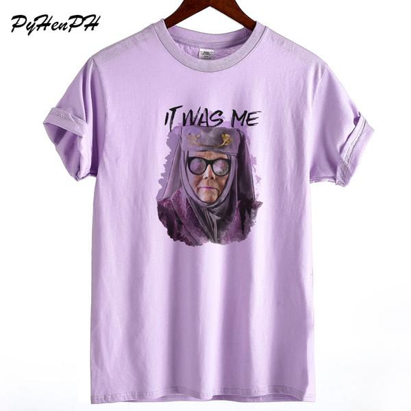 Game of Thrones футболка 2019 Новая женская летняя хлопковая футболка Harajuku It It Me Футболка с принтом женская плюс размер Свободная футболка
