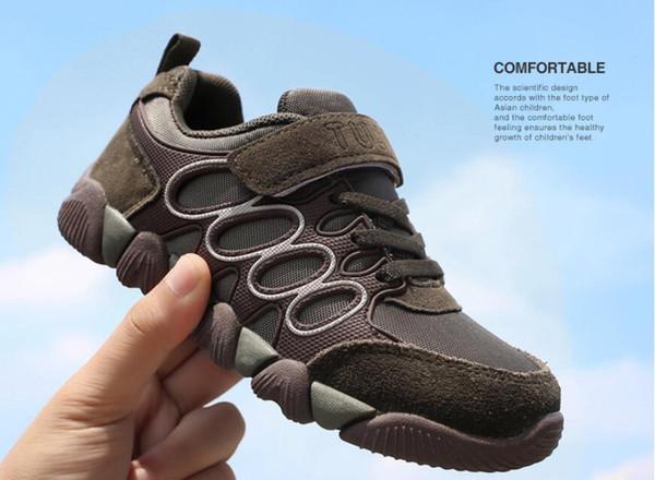 Jeff Sneaker çocuklar Çocuk Moda Kahverengi renk Rahat Ayakkabılar Rahat Örgü Üst hafif