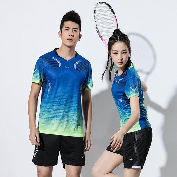 2019 NEW New Badminton clothes Men , sports badminton sets , Tennis clothes , Badminton shirt Tennis wear dry-cool shirt + shorts 2601