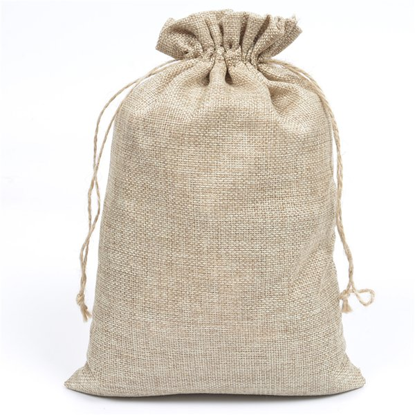 "Jute Burlap Hessian Drawstring Pouch 20x30cm(7.87""x11.81"") Gift Bags for Handmade Soap Toys Scarf Storage 50pcs/lot"