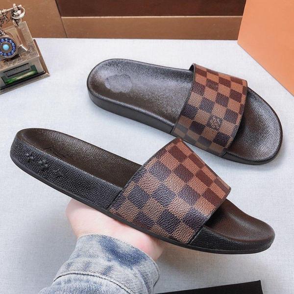 Mit Box Beste Qualität Hausschuhe Sandalen Rutschen Hausschuhe Sandalen Designer Schuhe Huaraches Flip Flops Abnutzungserscheinungen Für Mann Frau von bag02 LT603