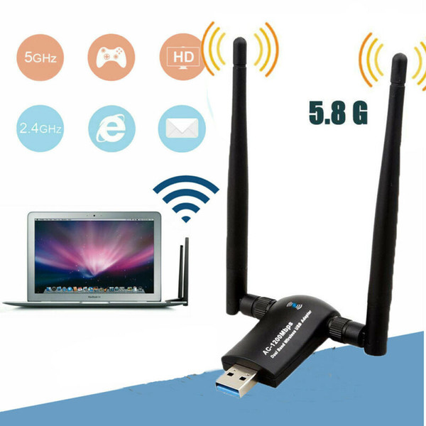USB 3.0 / 안테나 w AC 듀얼 밴드 와이파이 카드 1200mbps 무선 네트워크 어댑터