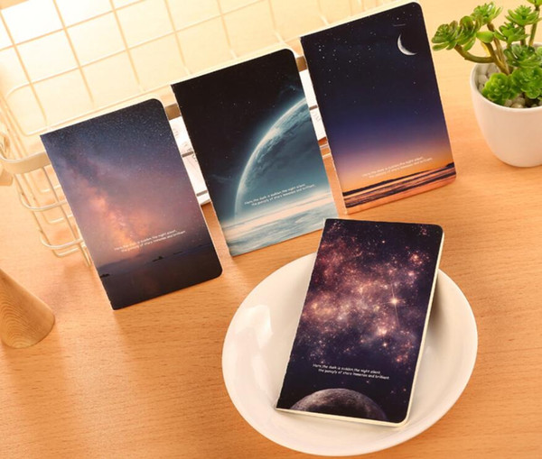 best selling Vintage Romatic Starry Sky Series Kraft Paper Notebook Journal Diary Notepad Vintage Soft Copybook Daily Memos Pads DHL Free