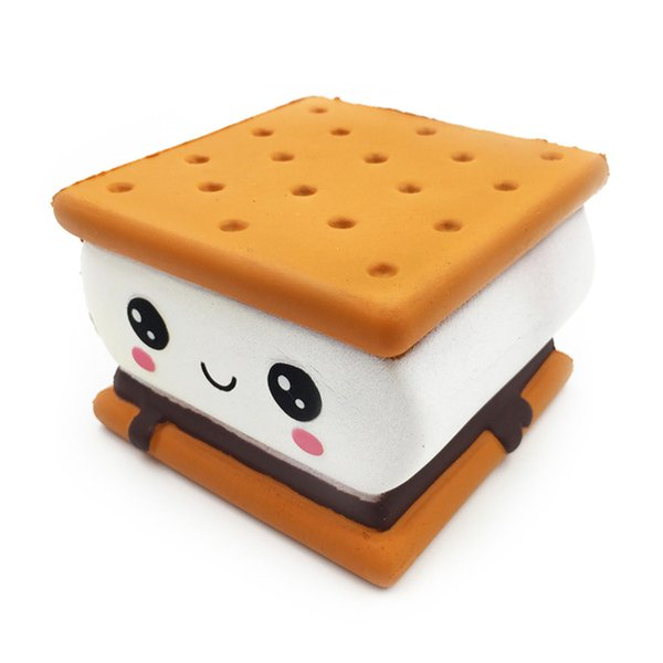 Kawaii Cake Biscuit Bread for Squishy Slow Rising Toy Chocolate Squeeze Toy Jumbo Squish Toy for Kids Gift Lanyard Phone Straps