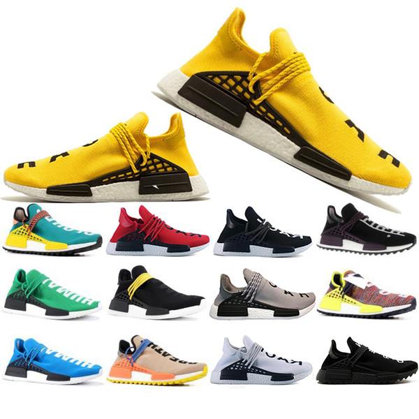 Hot Race course humaine Hu piste pharrell williams chaussures de course hommes Nerd noir crème mens formateur femme designer sport baskets EUR 36-47