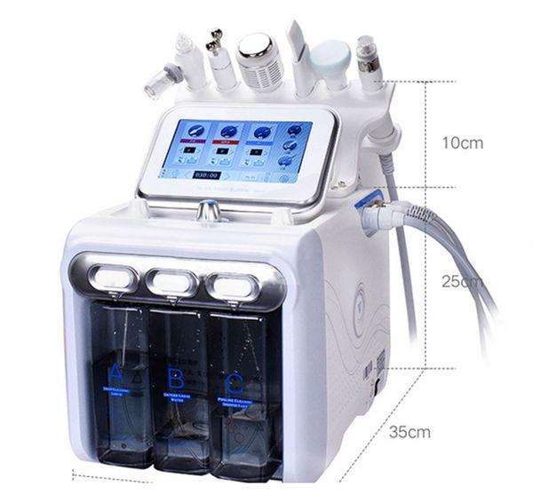 6in1 H2-O2 Hydra Dermabrasion Aqua Peel RF Bio-Lifting Spa Facial Hydro Wasser Microdermabrasion Gesichtsmaschine Cold Hammer Oxygen Spray