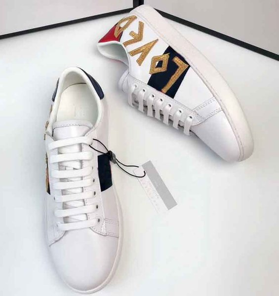 Top Quality Big size US5-US13 White black Shoes designer leather ace shoes man women plus size luxury casual shoes with box dust bag 5dfs
