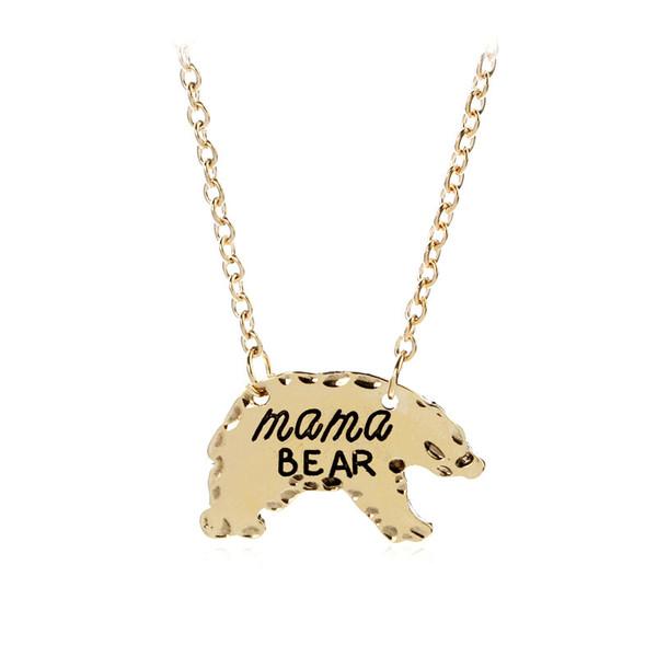Joyas europeas y americanas 2019 Mamá regalo mamá oso aleación oso collar venta instantánea ráfaga