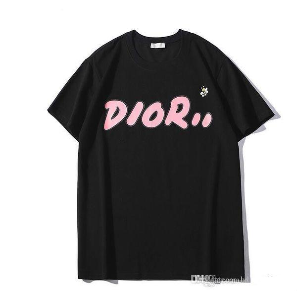 T-shirt mode 2019 shirt à manches courtes t-shirts pour hommes et femmes casual T-shirts 100% coton pour hommes et femmes