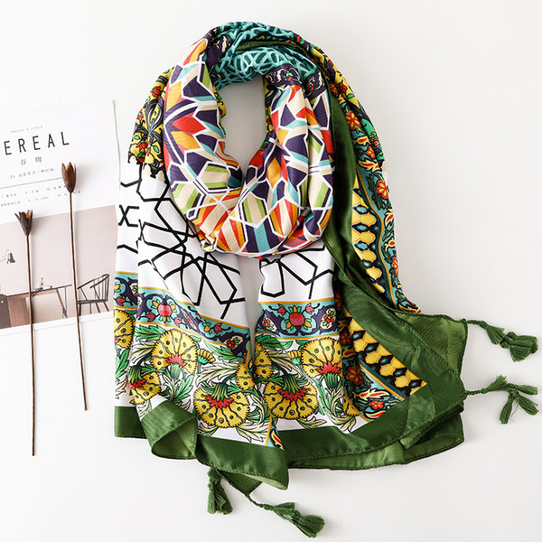 Winter Warm Print Scarf for Women Ethnic Stylish Cotton Scarf New Design Large BOHO Shawl Wraps Recommend [3540]