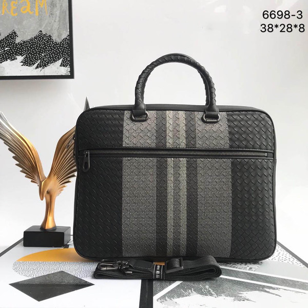 top popular Luxury mens bag laptop bag mens briefcase Genuine leather high quality Mens bags Size 38*28*8CM Model 6698 2020