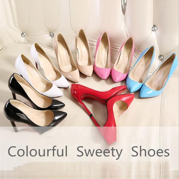 EUR 35-40 Mode-Stil US-Dame High-Heels junge Frau High-Heels Schuhe Nachtunterhaltung Veranstaltungsort Pfennigabsatz einzigen Schuhe PU-Pumpen Hot