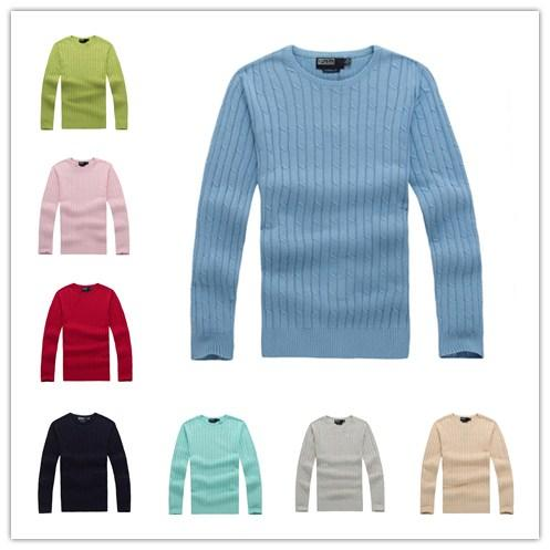 best selling High quality polo men's pull New York designer sweater knitted coat cotton sweatshirt Round neck jumper pullover sweater Small horse game