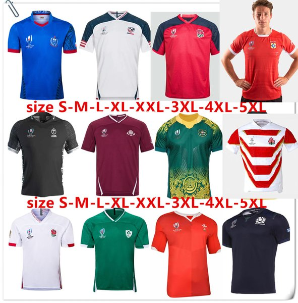 top popular JAPAN HOME RUGBY WORLD CUP 2019 JERSEY SCOTLAND Rugby ITALY 19 20 Japan World Cup Australia Fiji Wales shirt Samoa rugby jersey Size S-5XL 2019