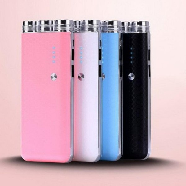 10000mAh Portable External Battery Charger Portable Power Bank With Super Bright LED Flashlight Large Capacity Powerbank