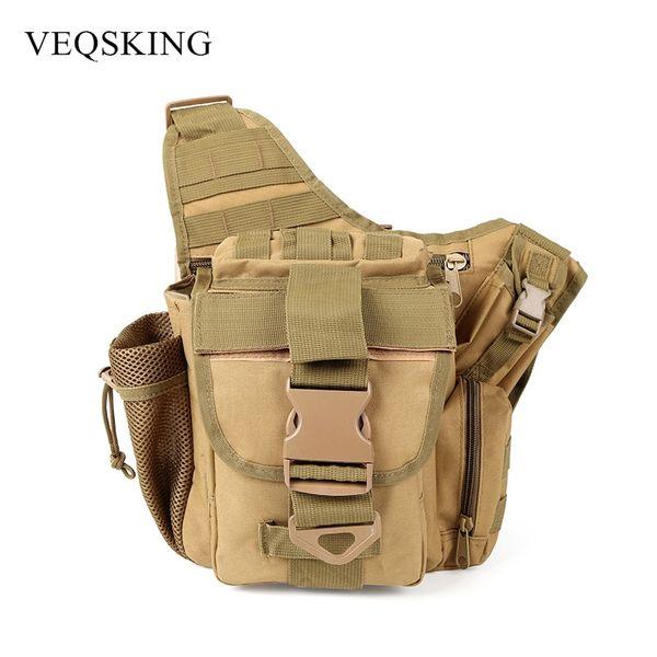 Military Tactical Shoulder Bag,600D Oxford Men Women Outdoor Camera Bag,Waist Pack for Climbing Camping Trekking 4 Colors #159088