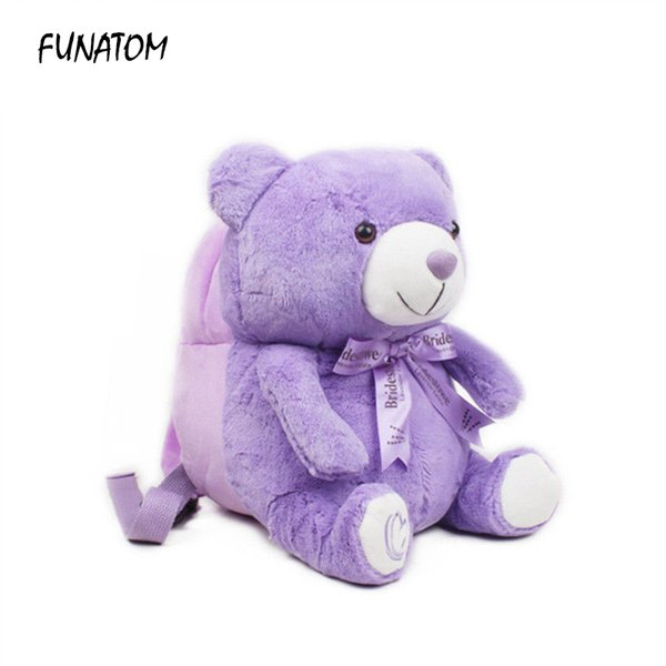 Factory Outlet Kids Backpacks Baby Girls Boys Cute Bear Schoolbag Children Cartoon Bookbag Kindergarten Toys Gifts School Bags