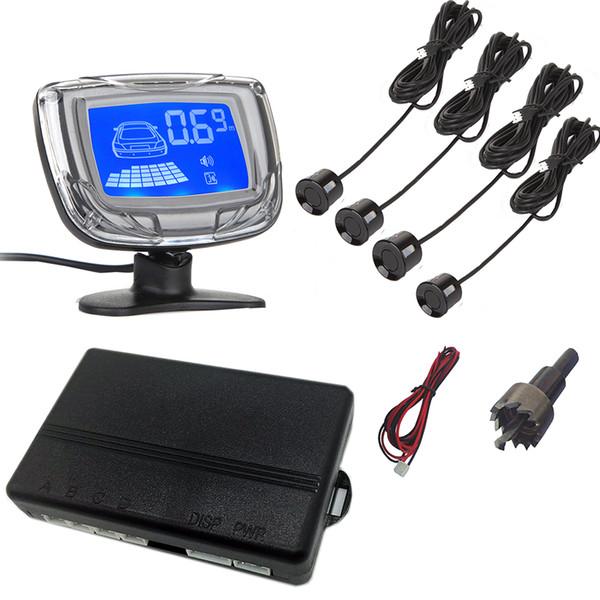 Tekbow Inversione di auto Aid Parcheggio - 4 sensori di parcheggio + display del monitor + Modulo di Comando Aid Box Car