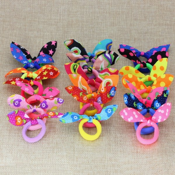 50pcs Young Girl Hair Accessories Colorful Hair Bands With Cute Ears Star Peacock And With Flower Headwear Or Hair Clips