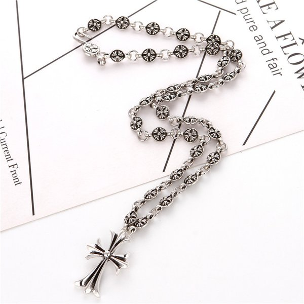 Crowe croce ancoraggio collana pendente uomini e donne prepotente retro regalo gioielli collana regolabile