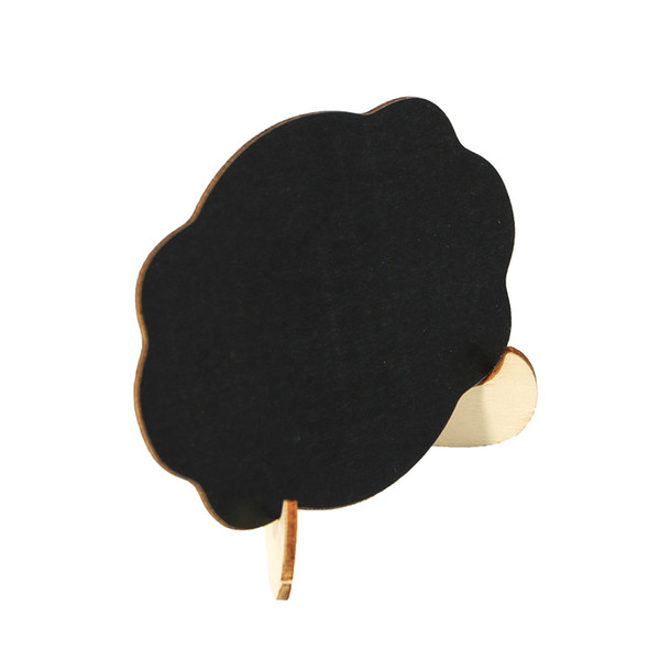 best selling 20 pcs Cloud Shape Wooden Mini Blackboard Message Board Wedding Party Decorations Chalkboards Table Numbers Stand Name Display