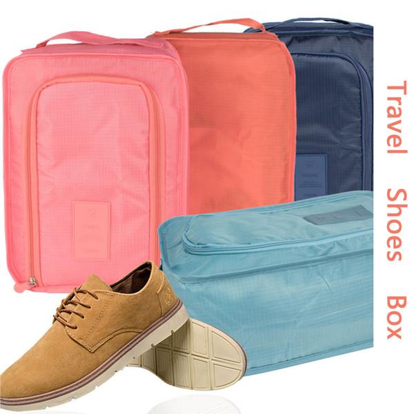 Sólida Sapato À Prova D 'Água Saco de Viagem Sapato Dobrável Sapato Saco De Armazenamento Sapatos Sacolas Roupas Organizador Grande Capacidade de Armazenamento Bolsa Caso DBC VT1655